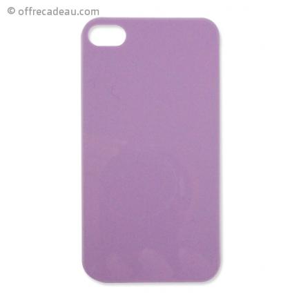 Coque pour iPhone 4 couleur mauve pastel - OffreCadeau.com