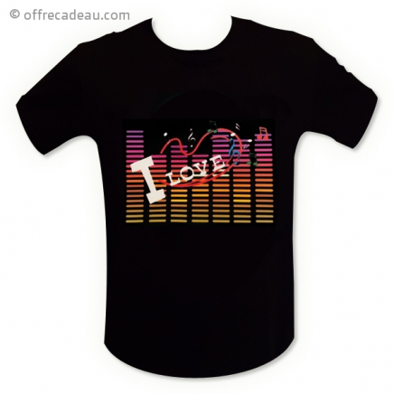 T-shirt LED I love