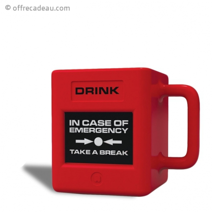 Tasse avec inscription IN CASE OF EMERGENCY